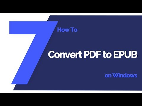 How To Convert PDF To EPUB On Windows | PDFelement 7