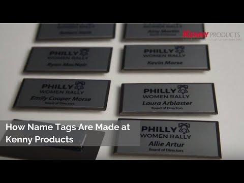 How Name Tags Are Made | Custom & Personalized Name Tags | Metal Name Tags | Plastic Name Tags