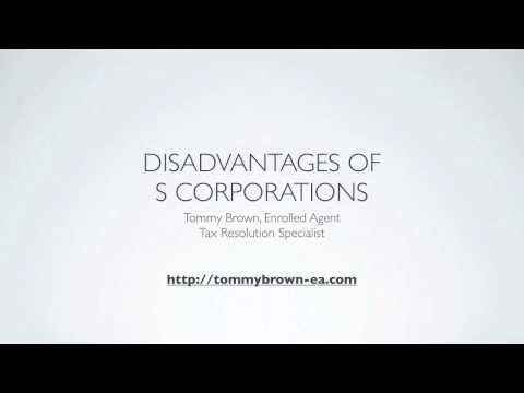 Disadvantages of S Corporations