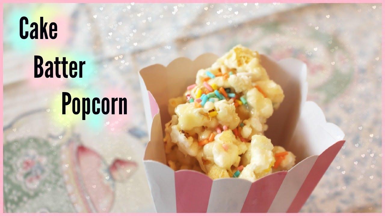 Cake Batter Popcorn Niki And Gabi