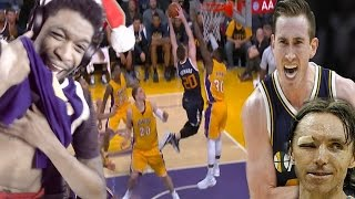 THE COLDEST WHITEBOY SINCE NASH! LA LAKERS vs UTAH JAZZ HIGHLIGHTS REACTION