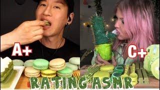 Rating Eating Green food (asmr)