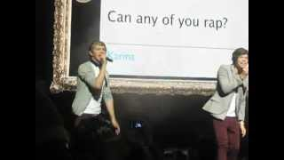 One Direction rapping Fresh Prince of Bel Air/Niall Rapping w/ Liam beatboxing 6-16-12