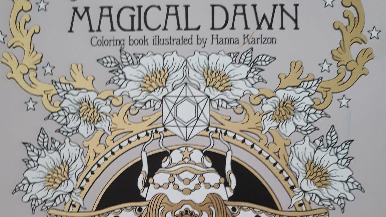 prsentation livre de coloriage magical dawn de hanna karlzon