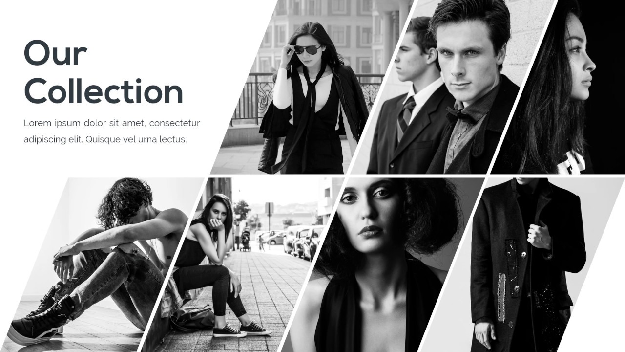 fashion monochrome presentation - powerpoint template - youtube, Modern powerpoint