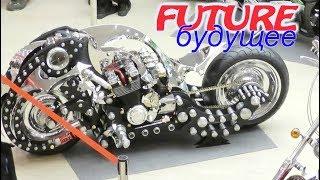 Смотреть видео Выставка мотоциклов из будущего и прошлого в ТРЦ Ривьера! Россия, Липецк (январь 2109)! онлайн