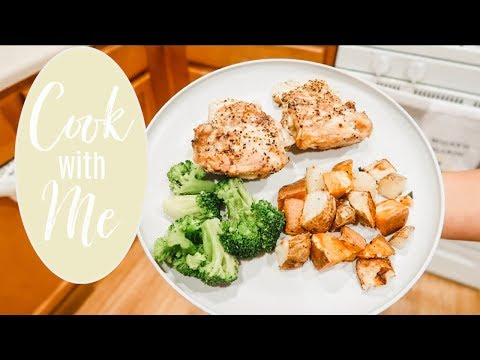 cook-with-me-|-air-fryer-chicken-&-potatoes-|-healthy-dinner-idea