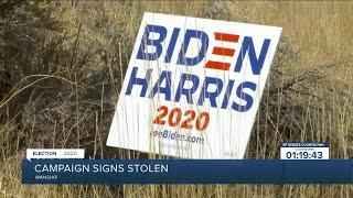 Utah woman has Biden/Harris signs stolen off of property