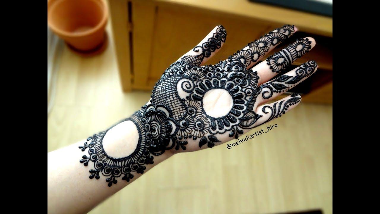 Henna Designs On Palm: How To Apply Beautiful Easy Gulf Arabic Khaleeji Palm