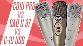 samson c01u pro v cad u37 v behringer c 1u usb microphone head to head