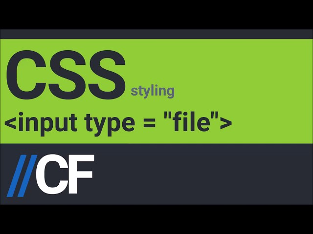 CSS: Styling file input - YouTube