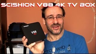 Scishion V88 4k Android TV Box - Revisión do sistema