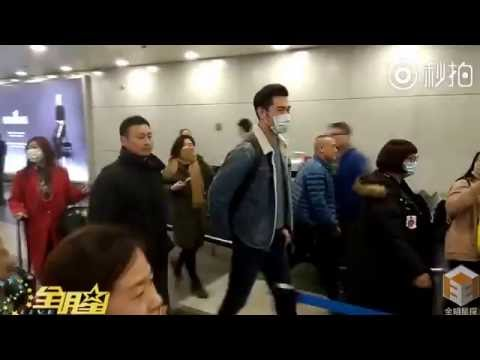 Godfrey Gao at airport