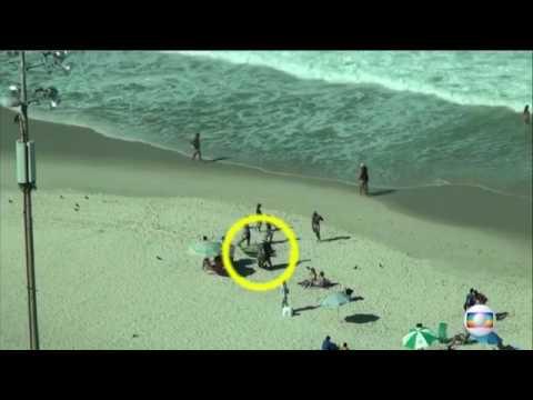 Imagens mostram roubos na Praia de Copacabana Rio de Janeiro