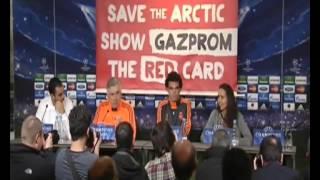 Greenpeace Real Madrid Gazprom Protest