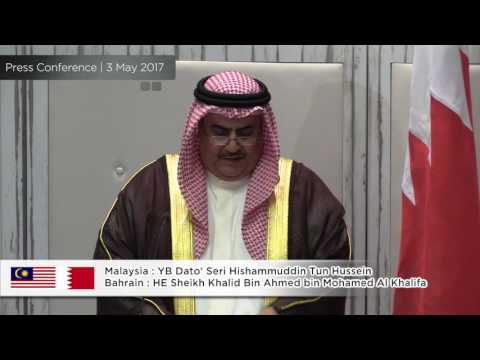 🇲🇾🇧🇭 : Joint Press Conference - Malaysia & Bahrain - 3 May 2017