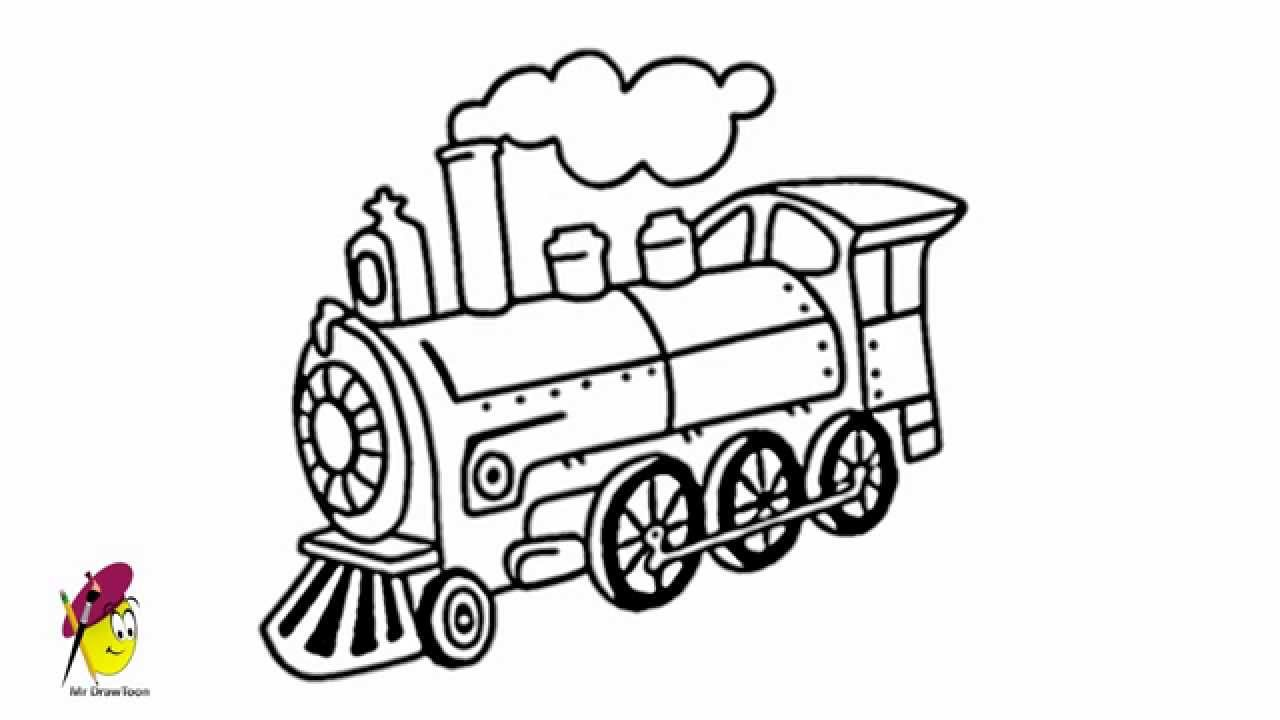 Locomotive How To Draw A Locomotive How To Draw Train Youtube