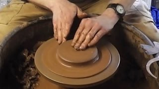 Pottery Centering Practice : Throwing Some Very Simple Flower Pot Stands