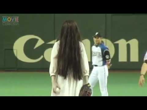 Sadako hits her first baseball