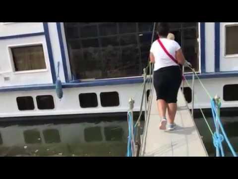 Boarding the Movenpick Royal Lotus Nile River cruise in Luxor