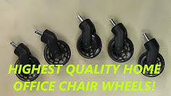 Uniq Rollerblade Office Chair Caster Wheels: ULTIMATE OFFICE CHAIR UPGRADE