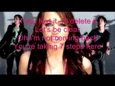 Miley Cyrus-7 Things with Lyrics