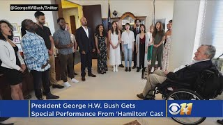 Hamilton Cast Performs For George H.W. Bush In His Office