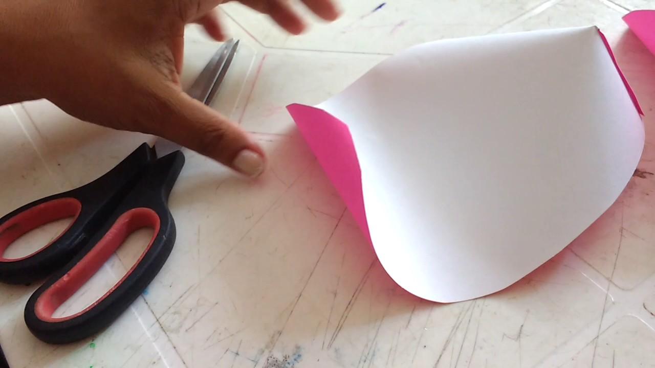 Como Hacer Flores De Cartulina En Colores Fluorecentes Youtube