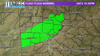 Flood warnings, watches in effect across north Georgia