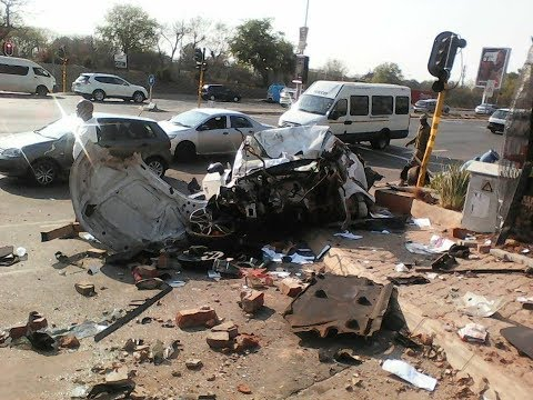 Rivonia Road Accident in Johannesburg Sunday 10 September 2017