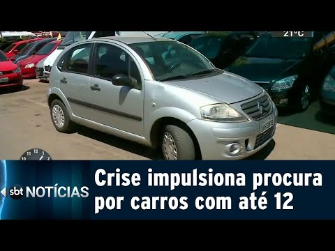 Com a crise, venda de carros com até 12 anos dobrou em apenas um ano | SBT Notícias (12/09/18)