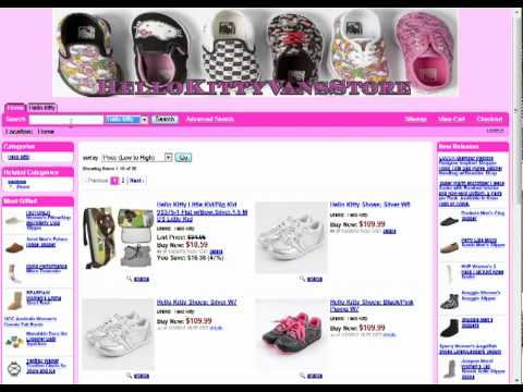 Hello Kitty Vans Shoes - YouTube