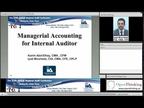 Managerial Accounting for Internal Auditor