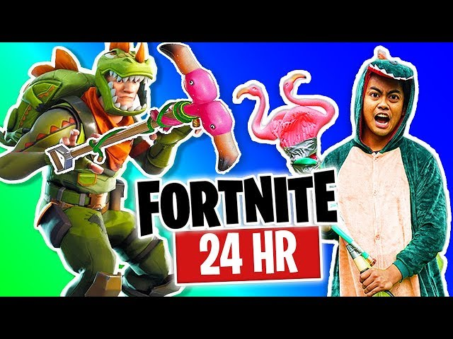 Living As My Fortnite Character For 24 Hours!