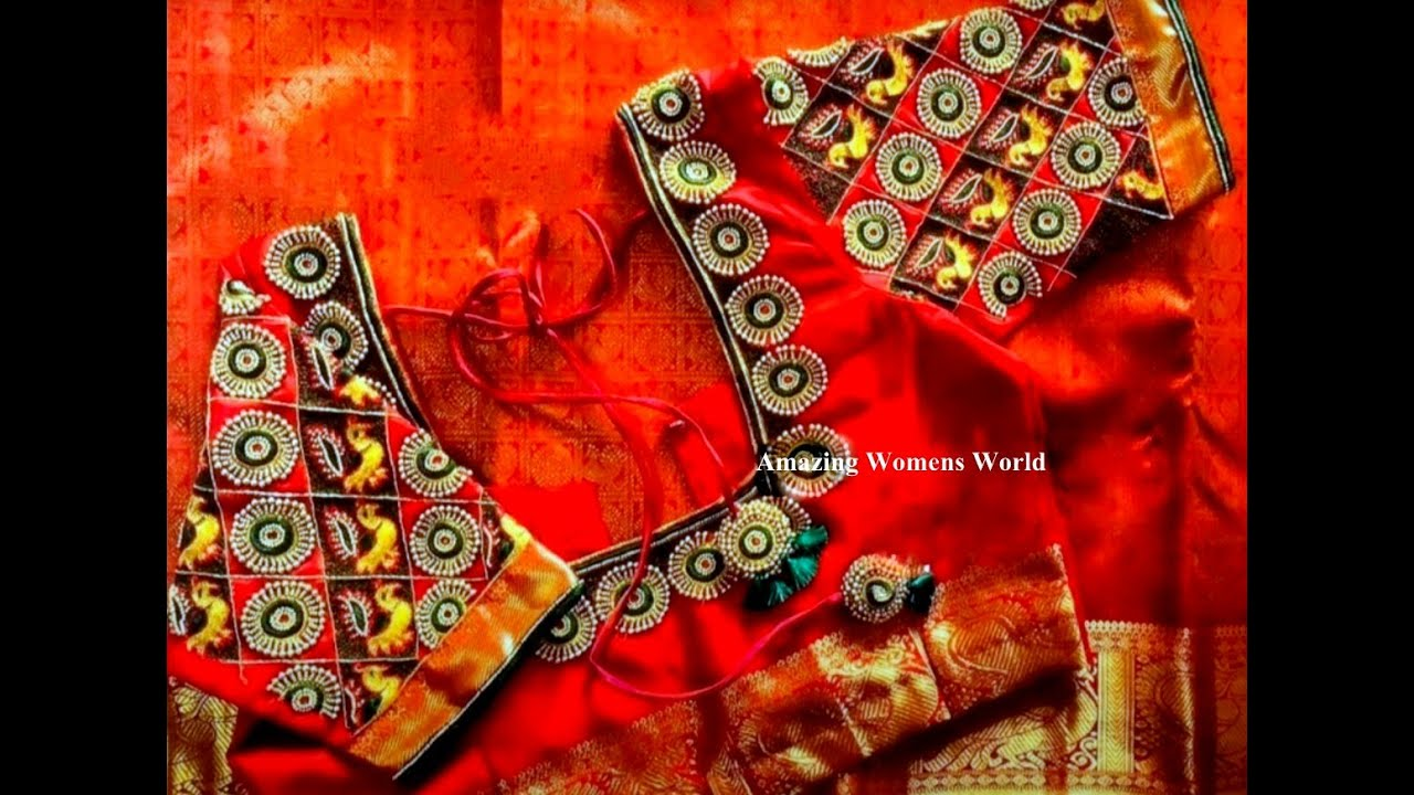 Most Adorable Heavy Neck Design with Normal Stitching Needle - Same Like Aari/Maggam Work/Embroidery