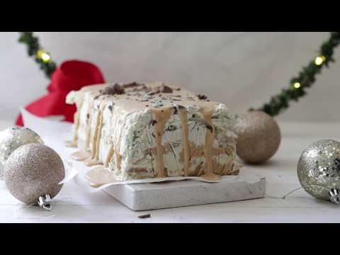 Mint Crisp Caramel Ice Cream Cake | Simply Delicious