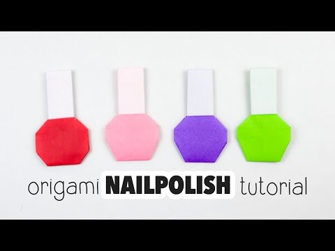 Origami Nail Polish Bottle Tutorial ♥︎ DIY ♥︎ Paper Kawaii