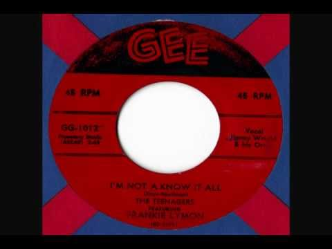 Frankie Lymon & The Teenagers - I'm Not A Know It All