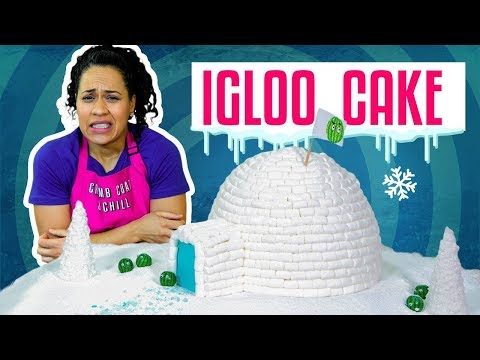 How To Make An IGLOO Out Of Chocolate CAKE & Mini MARSHMALLOWS | Yolanda Gampp | How To Cake It