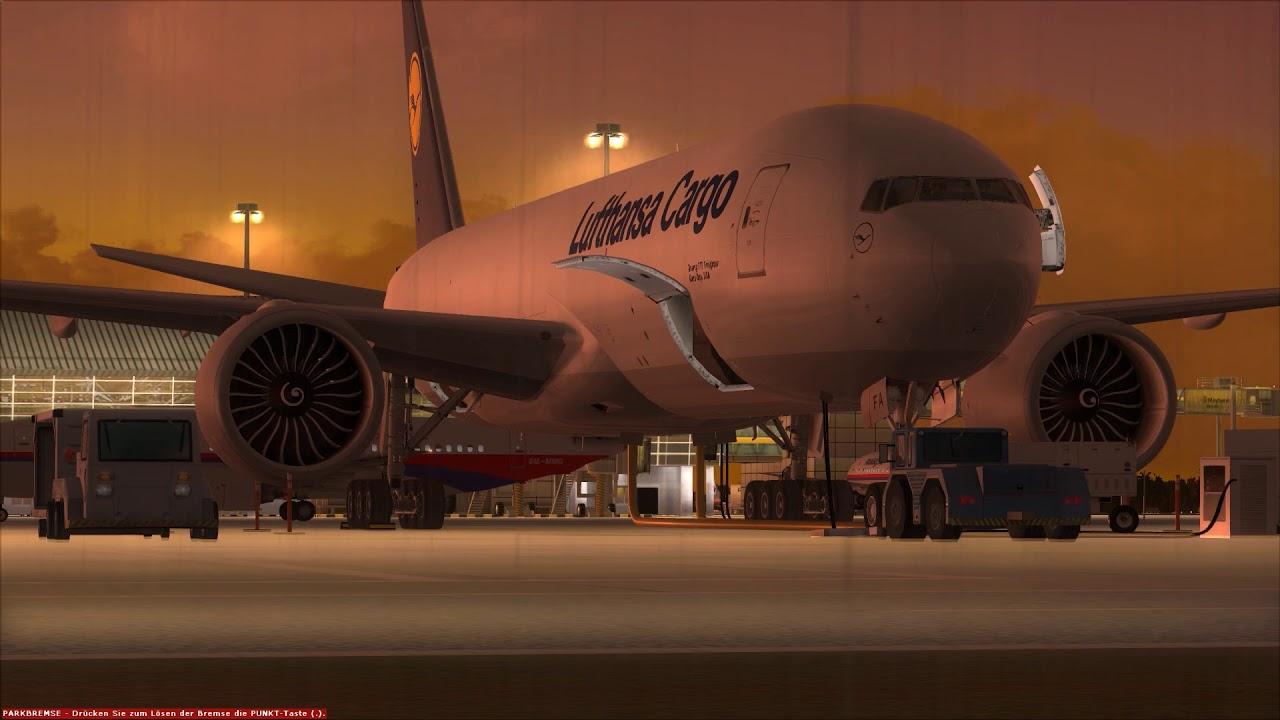 Lufthansa Cargo 777F parking at Kuala Lumpur ++ FSX - Most