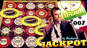 ★ JACKPOT HANDPAY! ★ FULL SCREEN CHIPS! JAMES BOND CASINO ROYALE slot machine WINS!