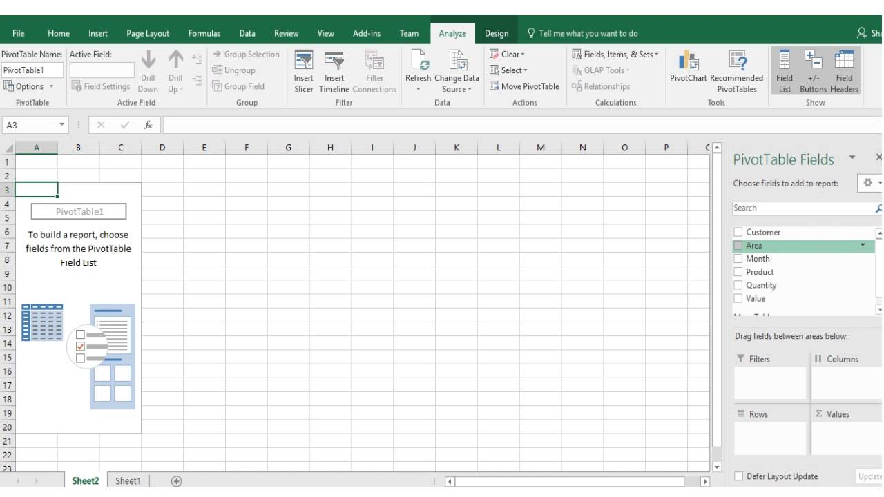 excel skills 2016 3 creating pivot table and inserting custom