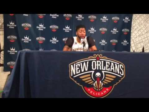 Pelicans' Anthony Davis talks about playoffs, new players, Jrue Holiday and more