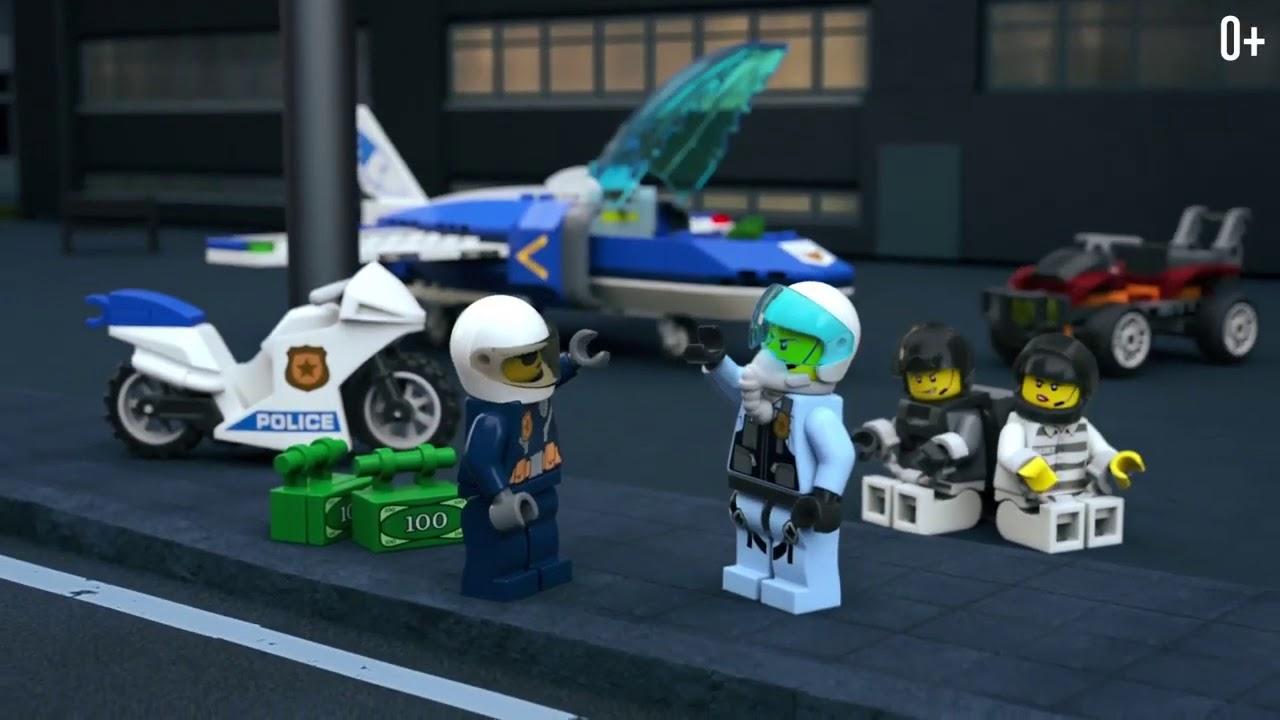 Arresto con il paracadute della Polizia aerea Lego 60208 City
