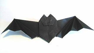 Origami Tutorial - How to fold an Easy Halloween Origami Bat