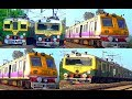 THE ONLY NON-STOP-EMU & DEMU TRAIN OF INDIA EASTERN RAILWAY ZONE....