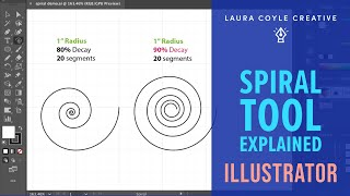 Illustrator Spiral Tool Explained by Laura Coyle