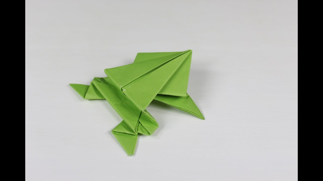 Origami Jumping Frog How To Make An Paper That Jumps Point Ninja Star Instructions On Diagram Like A Real Easy Tutorial Fo