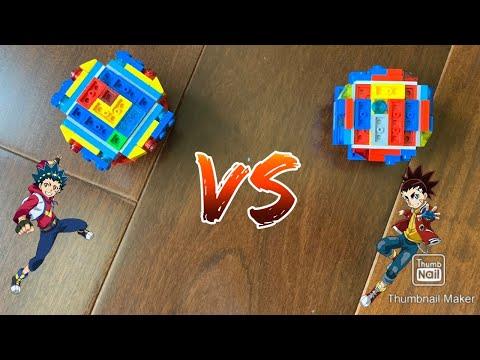 Epic battles! Brave Valkyrie vs Infinite Achilles | LEGO beyblade battles