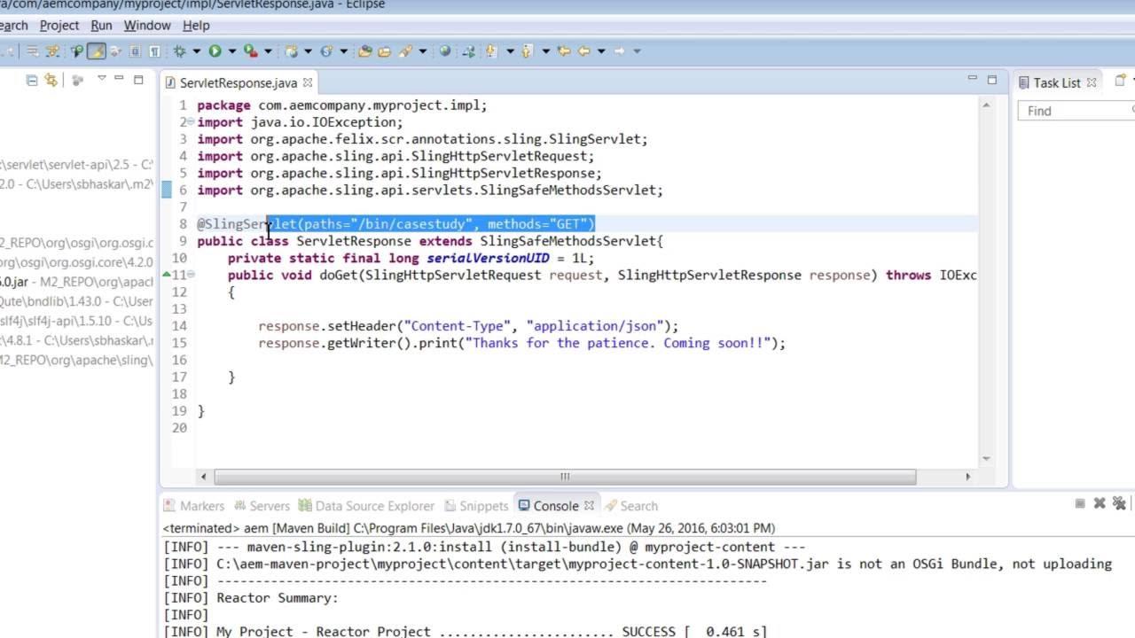 Manage sling requests using java servlets youtube baditri Gallery